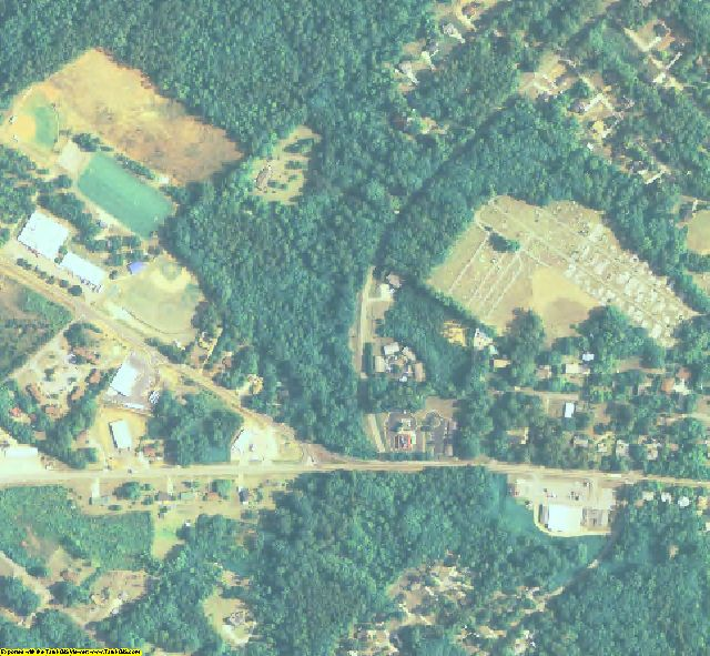 Jasper County, GA aerial photography detail