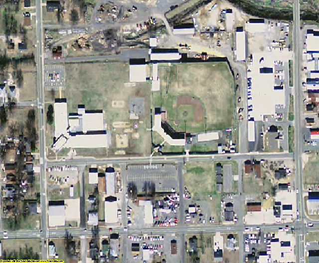 Jefferson County, AR aerial photography detail
