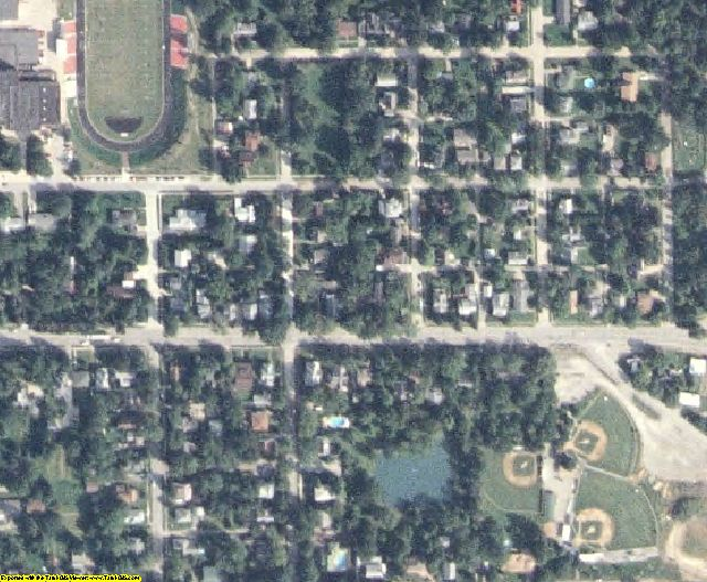 Jefferson County, IA aerial photography detail