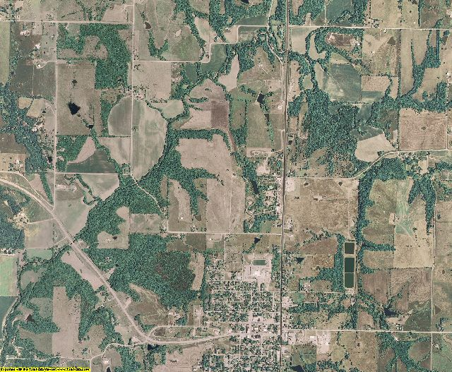 Jefferson County, Kansas aerial photography