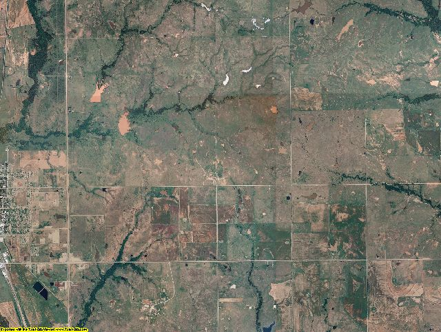 Jefferson County, Oklahoma aerial photography
