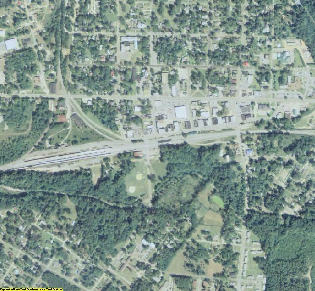 Jenkins County, GA aerial photography detail