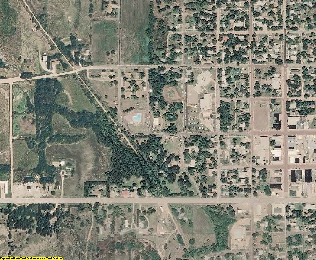 Jewell County, KS aerial photography detail