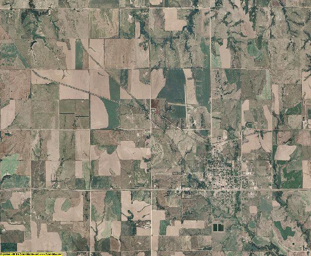 Jewell County, Kansas aerial photography
