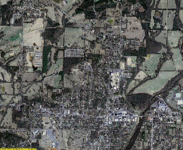 Johnson County, Arkansas aerial photography