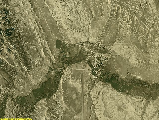 Johnson County, Wyoming aerial photography