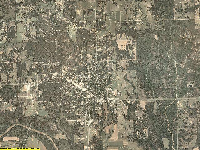 Johnston County, Oklahoma aerial photography