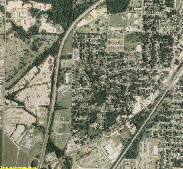 Jones County, MS aerial photography detail