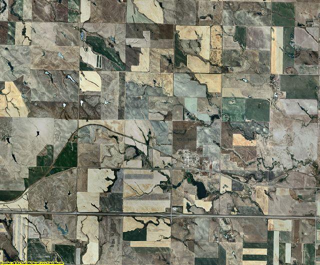Jones County, South Dakota aerial photography
