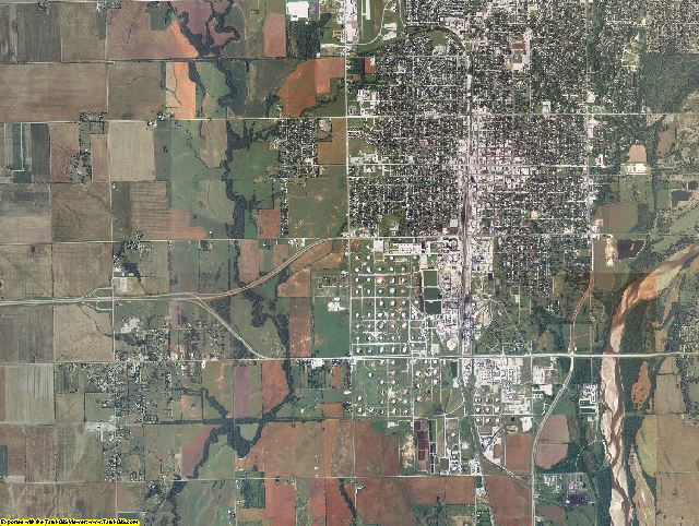 Kay County, Oklahoma aerial photography