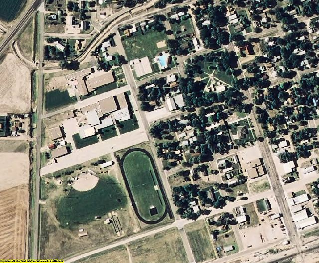 Kearny County, KS aerial photography detail