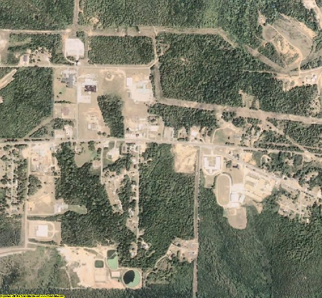 Kemper County, MS aerial photography detail