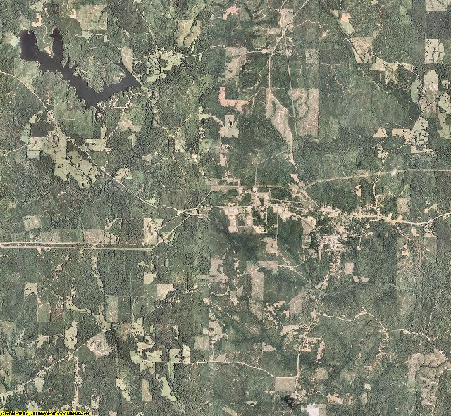 Kemper County, Mississippi aerial photography