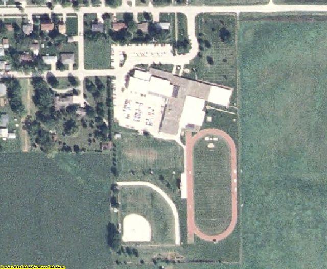 Keokuk County, IA aerial photography detail