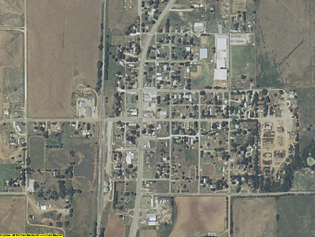 Kingfisher County, OK aerial photography detail