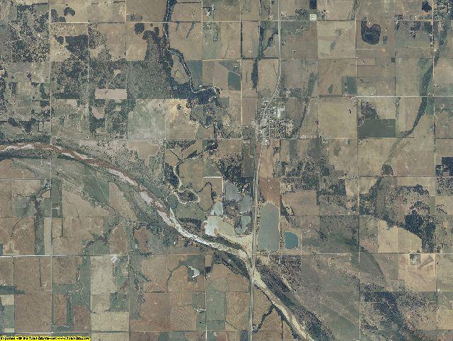 Kingfisher County, Oklahoma aerial photography
