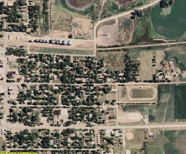 Kingsbury County, SD aerial photography detail