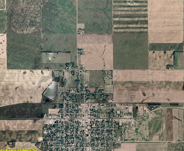 Kiowa County, Kansas aerial photography