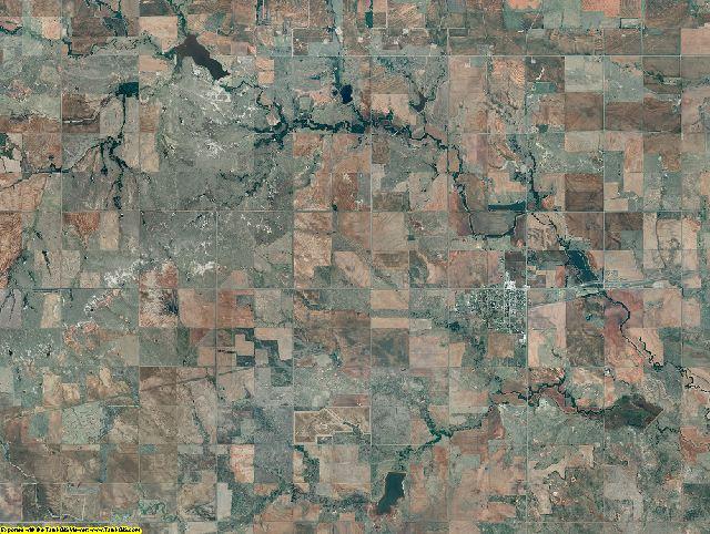 Kiowa County, Oklahoma aerial photography