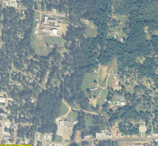 La Salle County, LA aerial photography detail