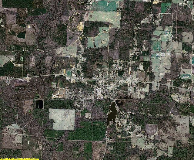 Lafayette County, Arkansas aerial photography