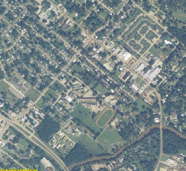Lafayette County, LA aerial photography detail