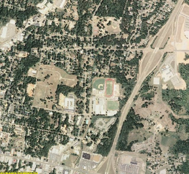 Lafayette County, MS aerial photography detail