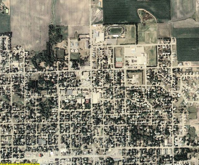 Lake County, SD aerial photography detail