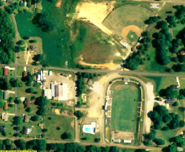 Lamar County, AL aerial photography detail