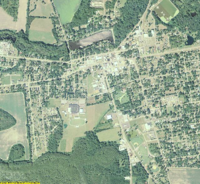 Lanier County, GA aerial photography detail