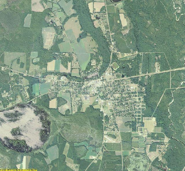 Lanier County, Georgia aerial photography