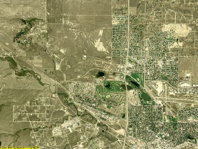 Laramie County, Wyoming aerial photography
