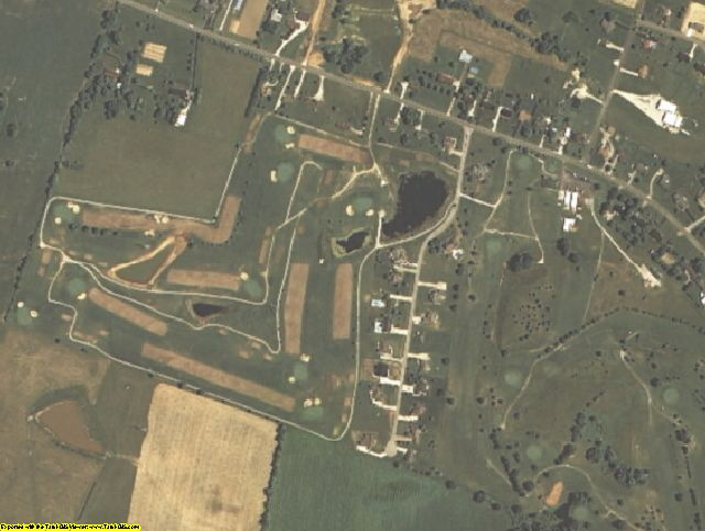 Larue County, KY aerial photography detail