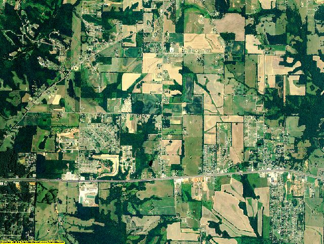 Lauderdale County, Alabama aerial photography