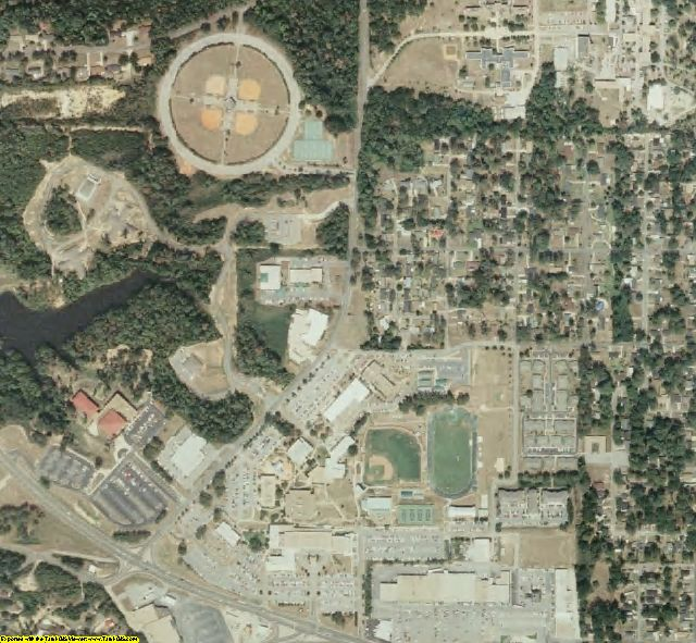 Lauderdale County, MS aerial photography detail