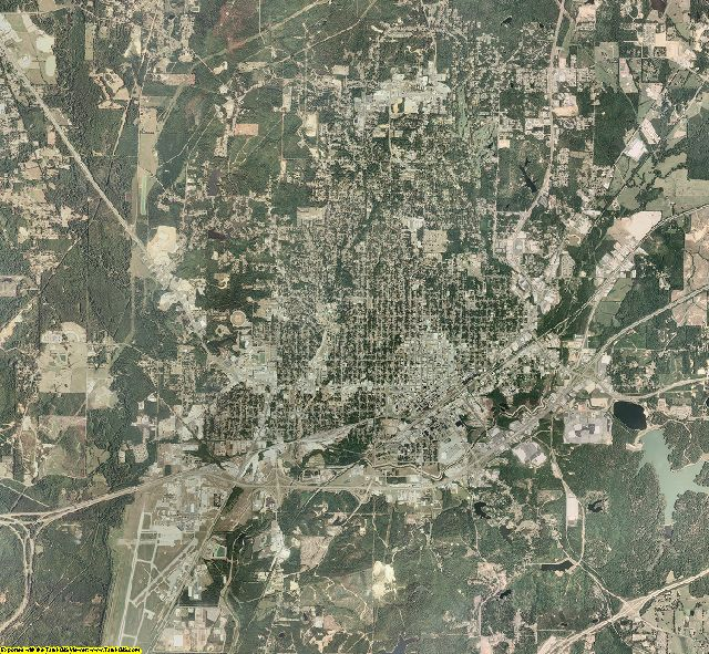 Lauderdale County, Mississippi aerial photography