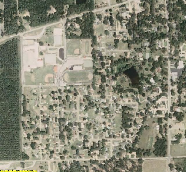 Lawrence County, MS aerial photography detail