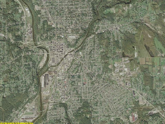 Lawrence County, Pennsylvania aerial photography