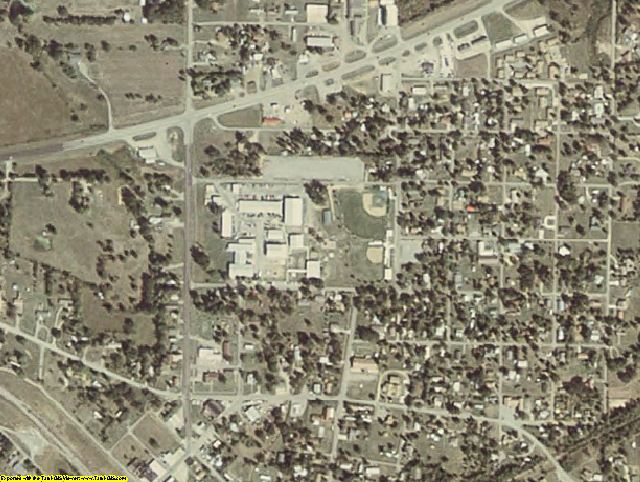 Le Flore County, OK aerial photography detail