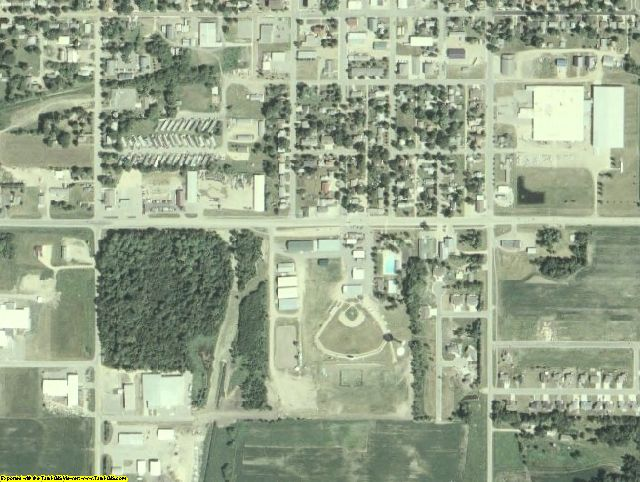 Le Sueur County, MN aerial photography detail