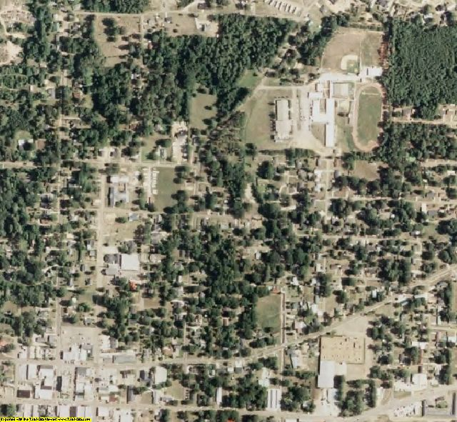 Leake County, MS aerial photography detail