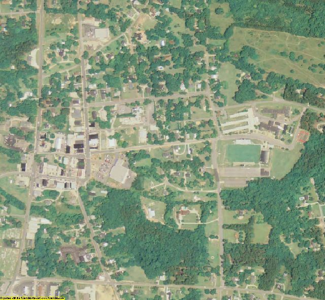 Lincoln County, GA aerial photography detail