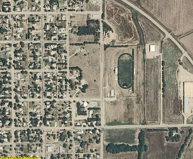 Lincoln County, KS aerial photography detail
