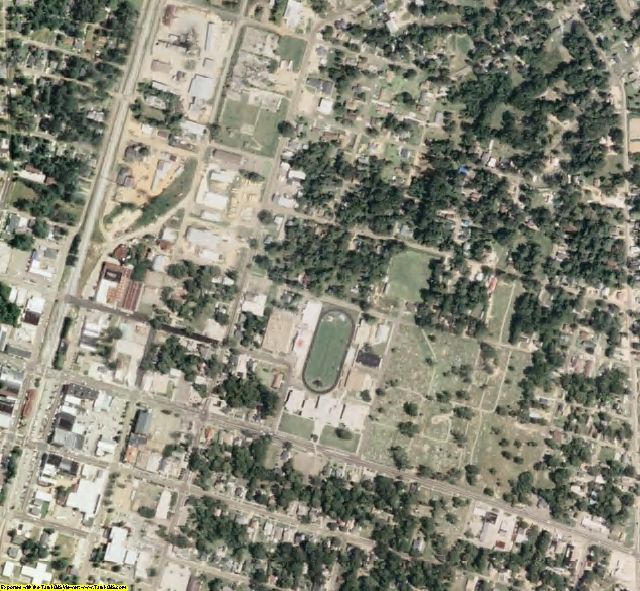 Lincoln County, MS aerial photography detail