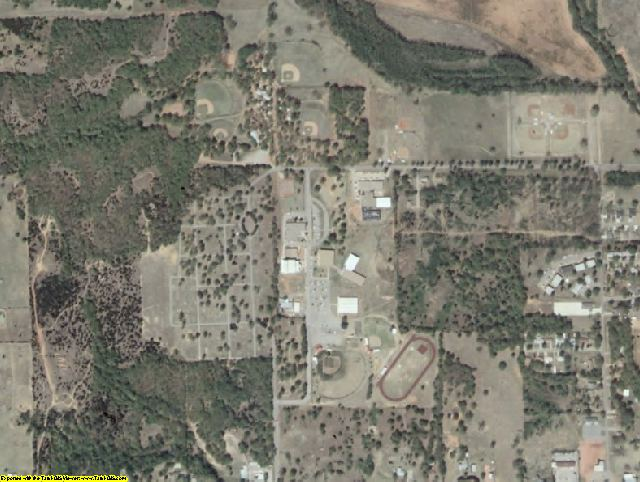 Lincoln County, OK aerial photography detail