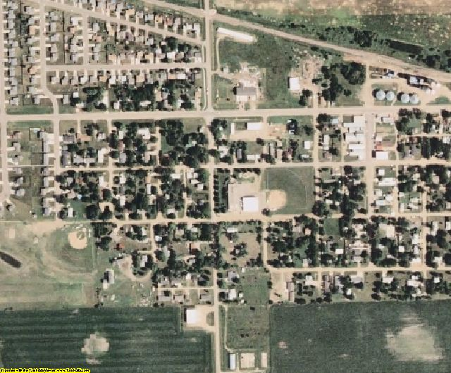 Lincoln County, SD aerial photography detail