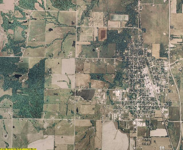 Linn County, Kansas aerial photography