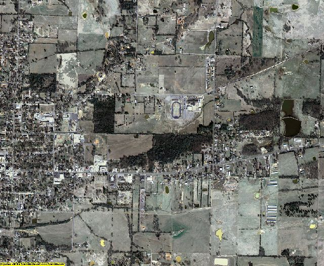 Logan County, Arkansas aerial photography