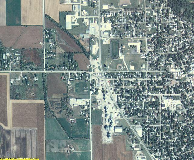 Louisa County, Iowa aerial photography