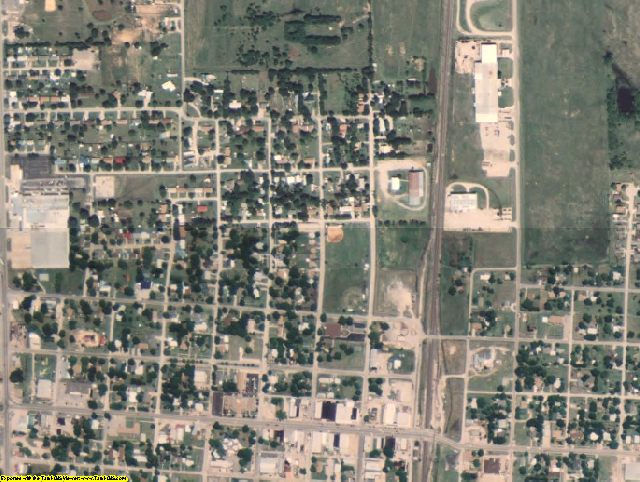 Love County, OK aerial photography detail